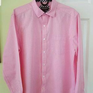 Mens Johnston Murphy Pink Oxford Shirt. Size L